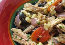 Peruvian Chicken Salad with Grilled Veggies